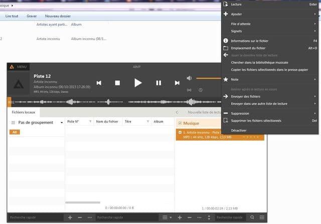 AIMP: un excellent lecteur audio tutoriel utilisation capture 5