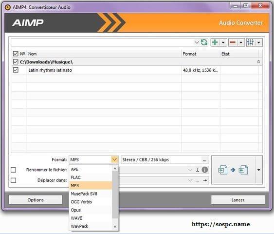 AIMPlecteur audio tutoriel sospc.name d