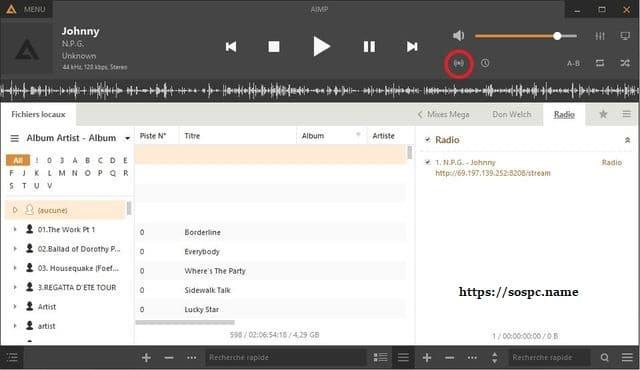 AIMPlecteur audio tutoriel sospc.name i