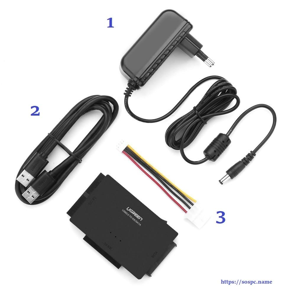 Adaptateur USB 3.0 vers Disque Dur IDE / SATA ugreen