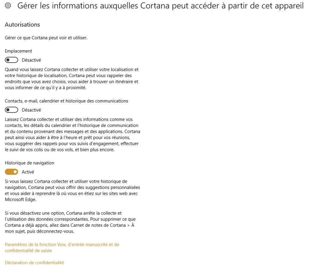 bien utiliser cortana de Microsoft capture 6