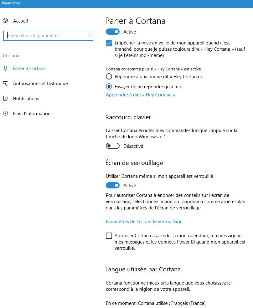 bien utiliser cortana de Microsoft capture 3