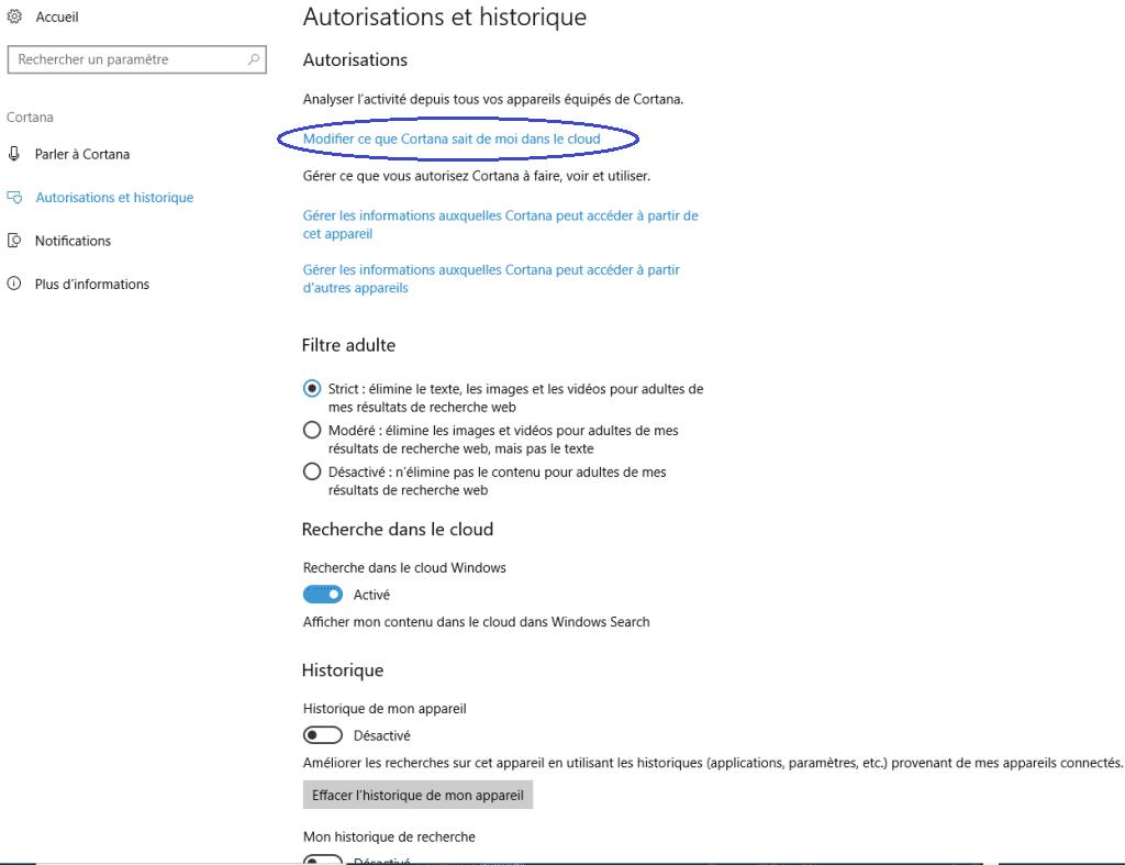 bien utiliser cortana de Microsoft capture 4