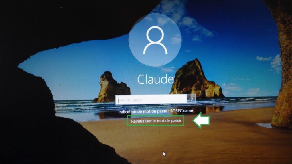 Clé USB de réinitialisation du mot de passe www.sospc.name
