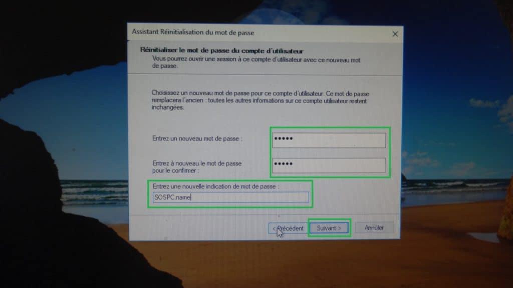 Clé USB de réinitialisation du mot de passe www.sospc.name 2