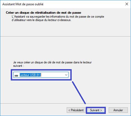 créer une Clé USB de réinitialisation du mot de passe sospc.name tutoriel capture 2