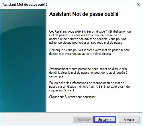 créer une Clé USB de réinitialisation du mot de passe sospc.name tutoriel capture 5