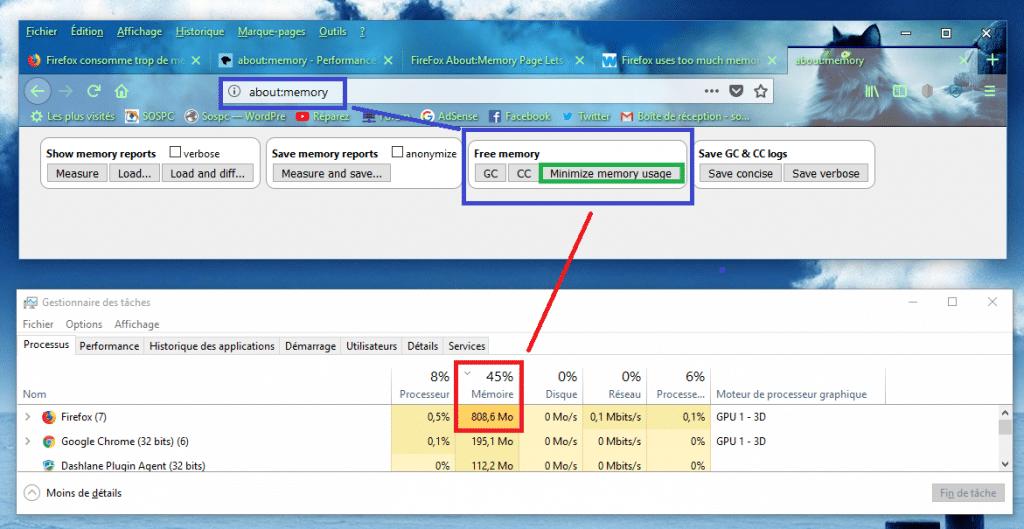 Firefox astuce pour libérer de la mémoire sospc.name capture 2