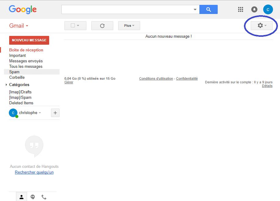 Gmail : modifier le nom utilisateur sospc