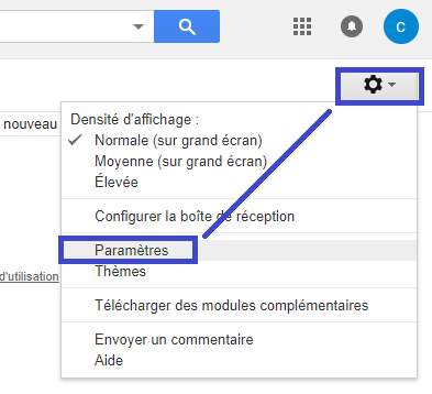 Gmail : modifier le nom utilisateur sospc.name