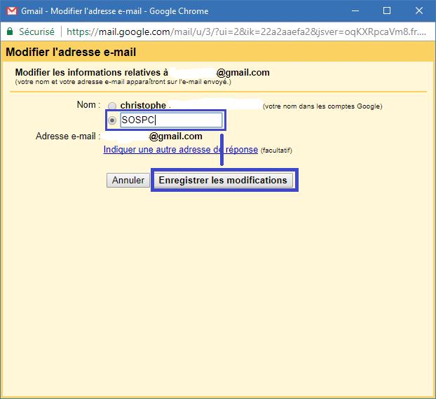 Gmail comment modifier le nom utilisateur www.sospc.name