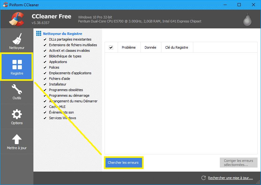 Google Chrome erreur Échec de la décompression de l'archive ccleaner