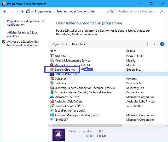 Chrome erreur Échec de la décompression de l'archive solution sur sospc.name