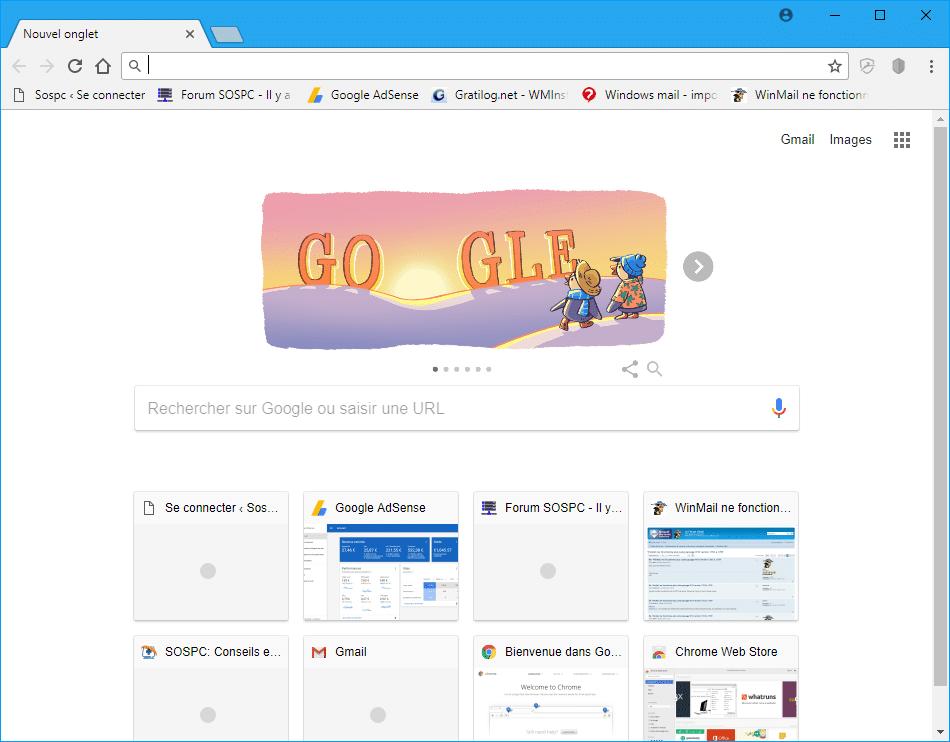 Google Chrome erreur