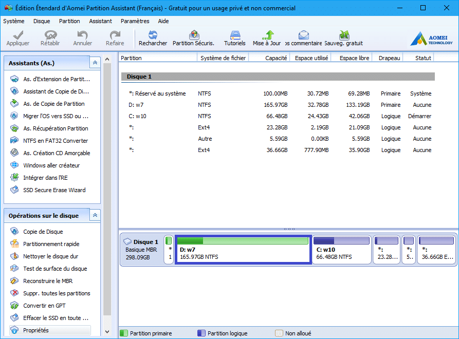 Aomei Partition Assistant tutoriel sur sospc.name