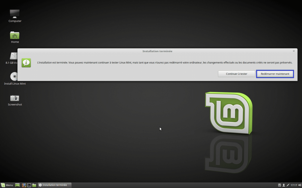 Installer un dual boot Windows et Linux, tutoriel 10