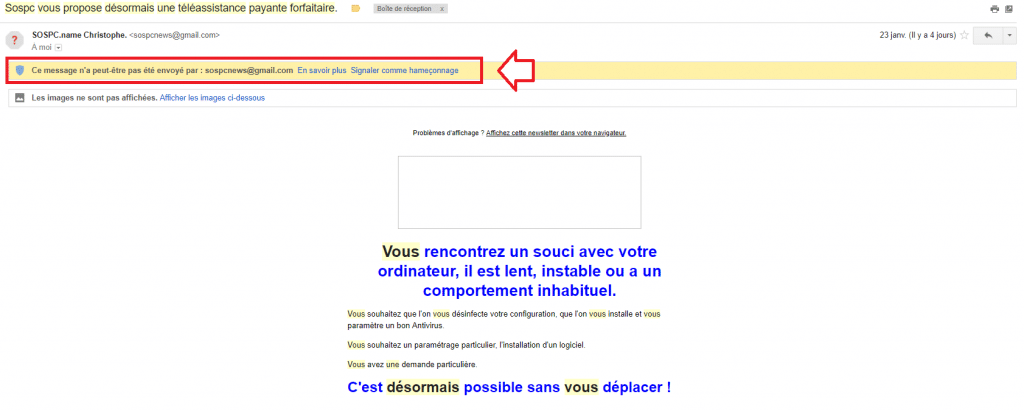 Je ne reçois plus la newsletter sospc.name 8