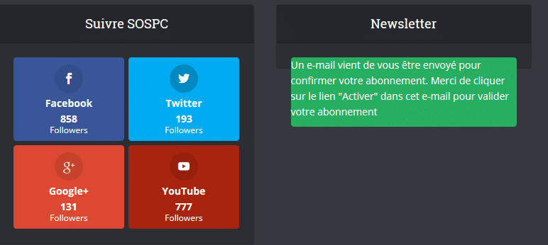 Je ne reçois plus la newsletter sospc.name 2