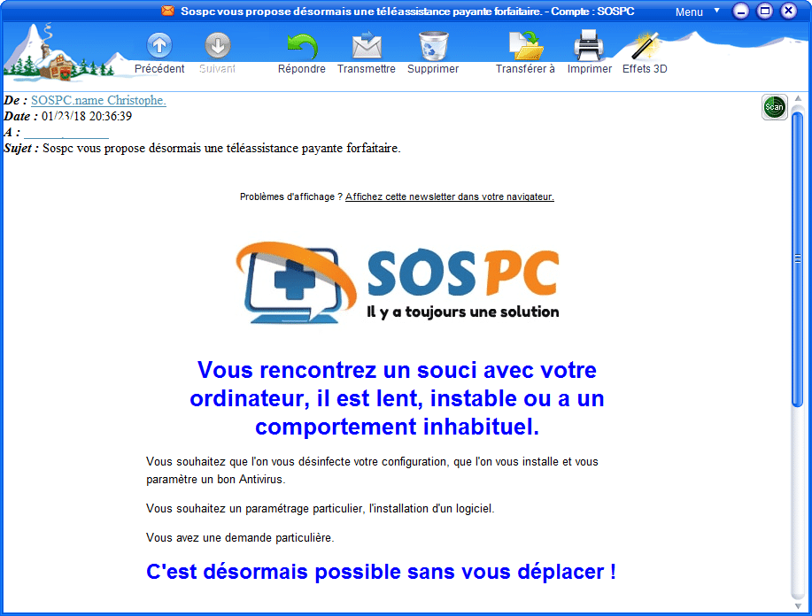 Je ne reçois plus la newsletter sospc.name 7