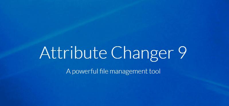 Attribute Changer, modifier facilement les date et heure de vos fichiers.