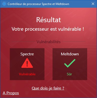failles Spectre & Meltdown. sospc.name comment tester