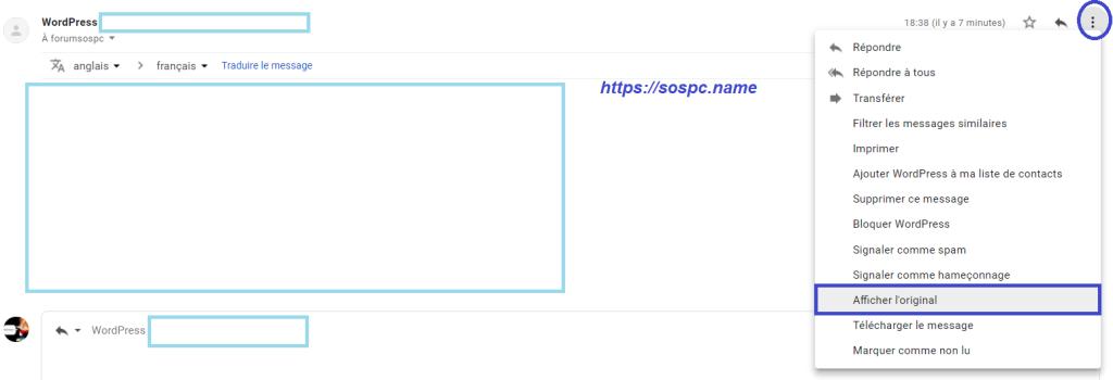 Localiser facilement l'expéditeur d'un mail.