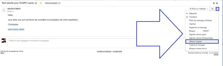 Comment localiser l'expéditeur d'un mail. capture 2