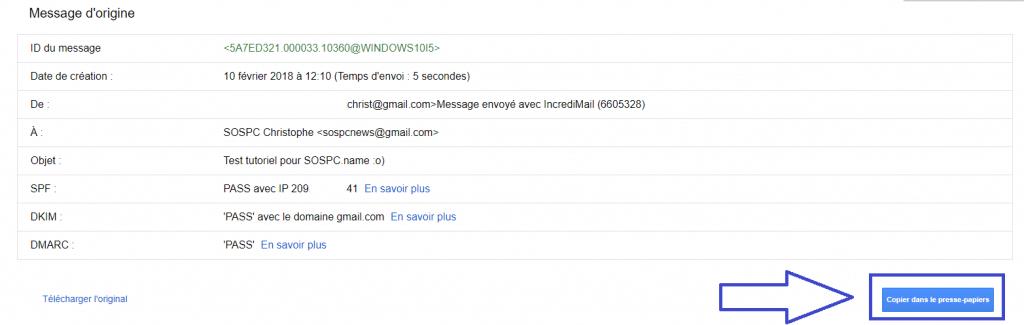 Comment localiser l'expéditeur d'un mail. https://sospc.name
