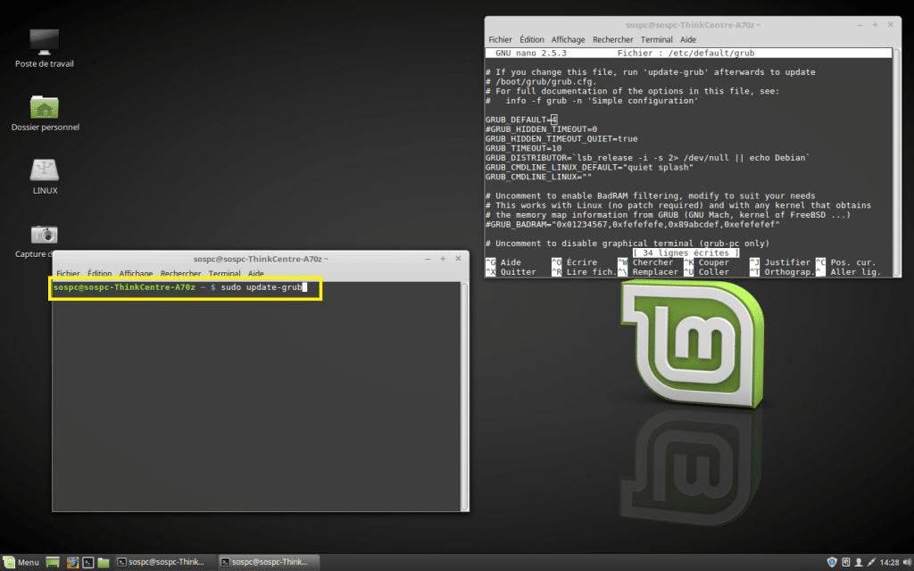 Windows / Linux changer priorité Os démarrage dual boot. tutoriel.