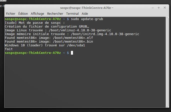 Windows / Linux modifier Os démarrage dual boot par défaut. tutoriel détaillé.