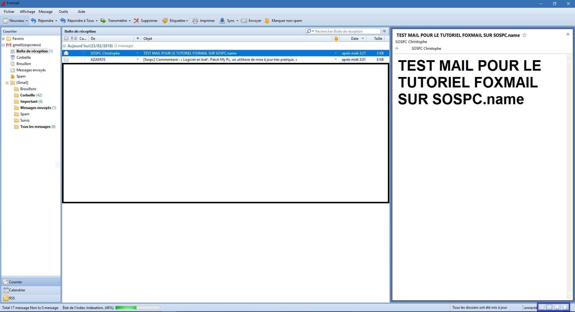 Foxmail tutoriel français détaillé