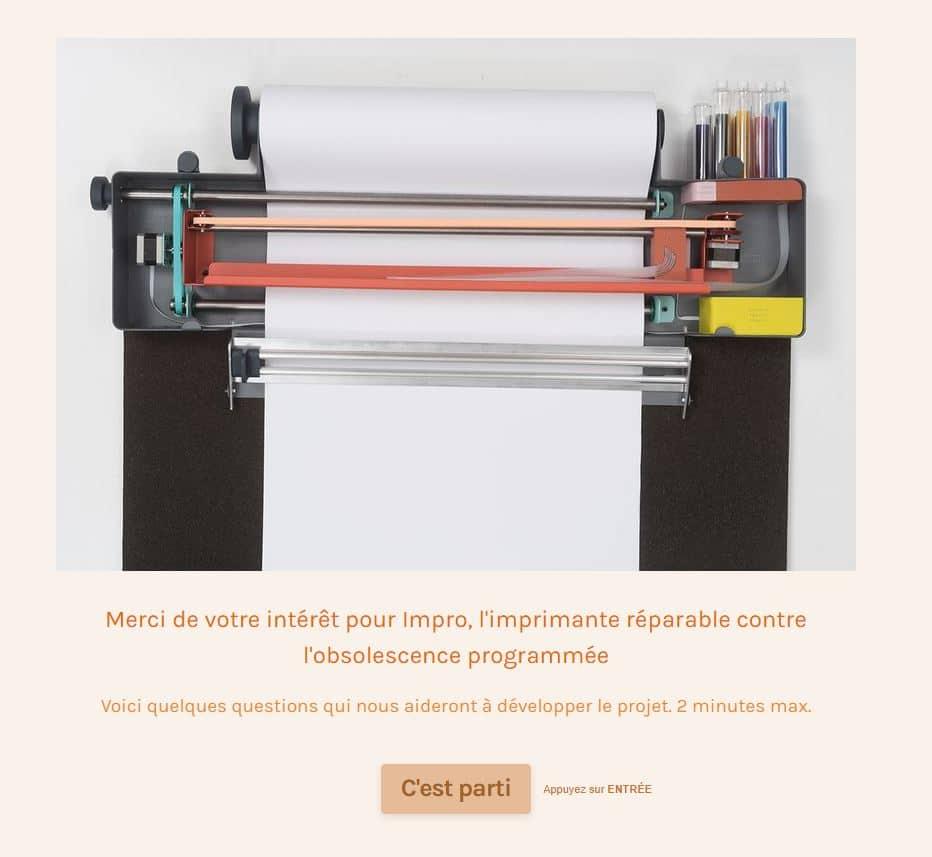 Impro imprimante contre l'obsolescence programmée.