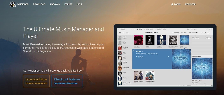 MusicBee un lecteur/gestionnaire audio doué, téléchargement.