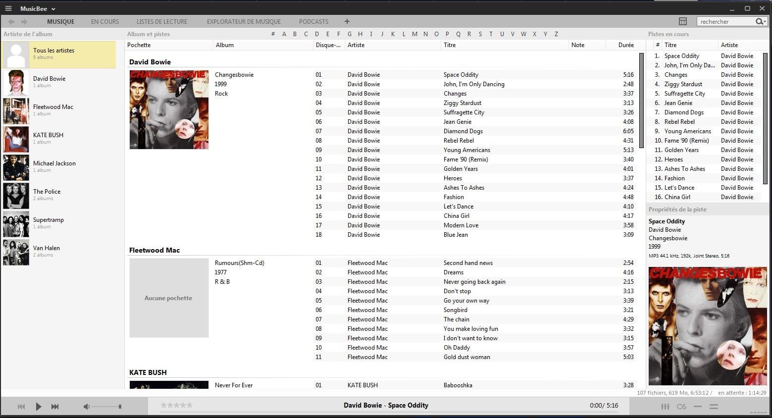MusicBee un lecteur audio sympa, tutoriel capture 6
