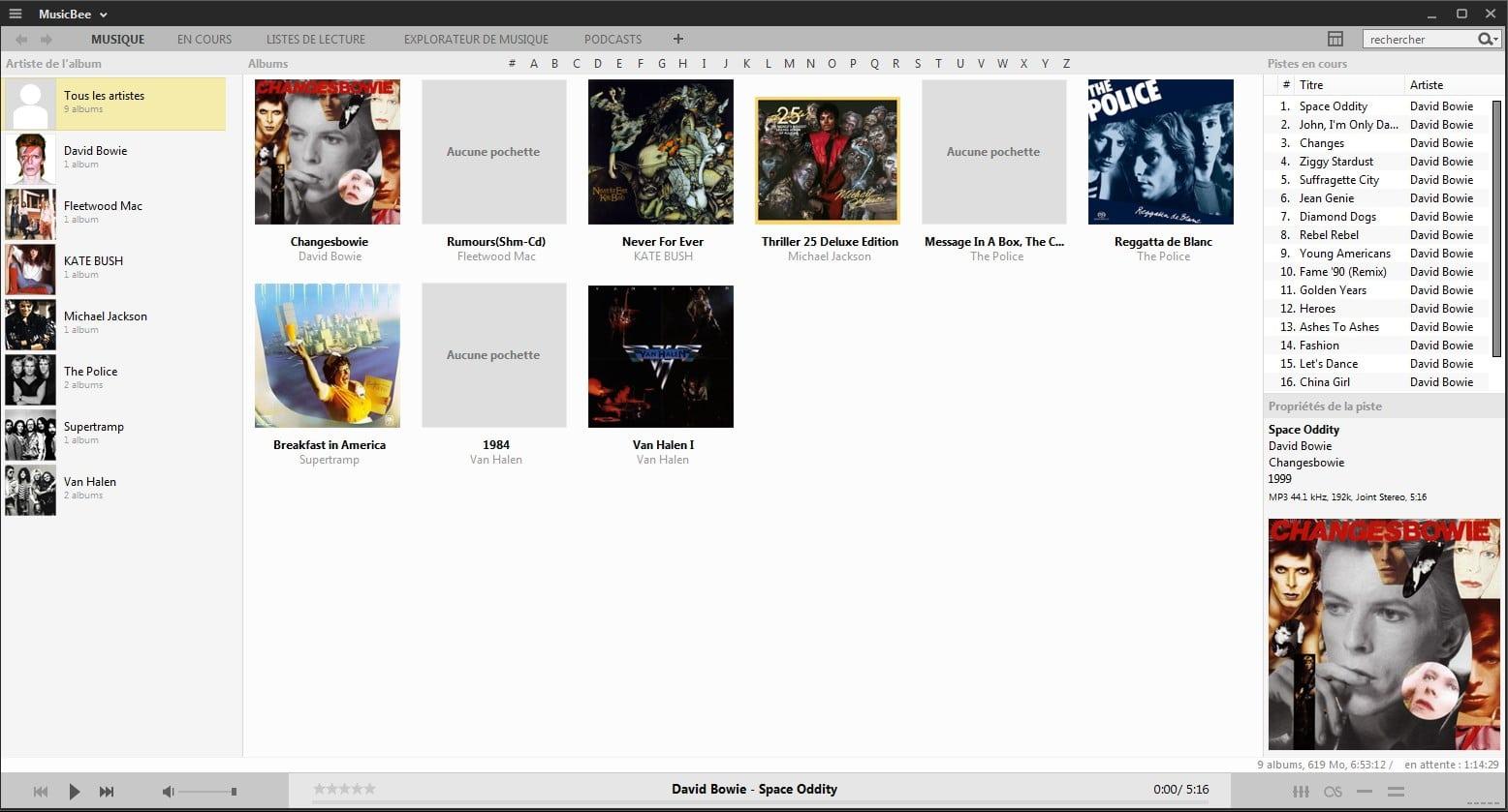 MusicBee un lecteur audio sympa, tutoriel capture 7
