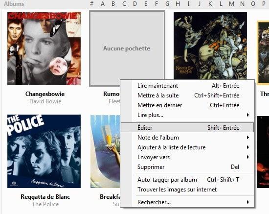 MusicBee lecteur audio / gestionnaire facile à utiliser