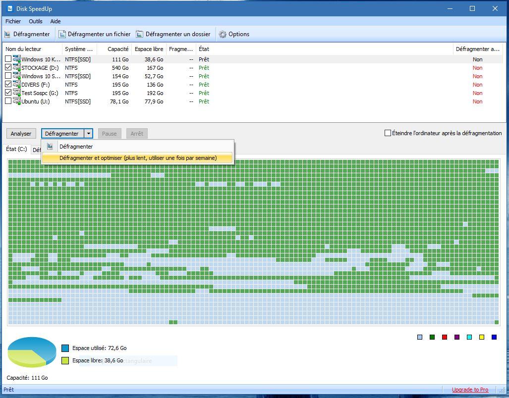 disk speedup défragmenter et optimiser glaysoft