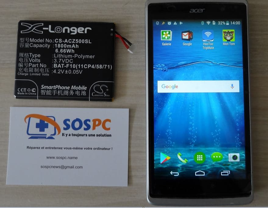 Changer de la batterie d'un Acer Z500 : cas pratique.