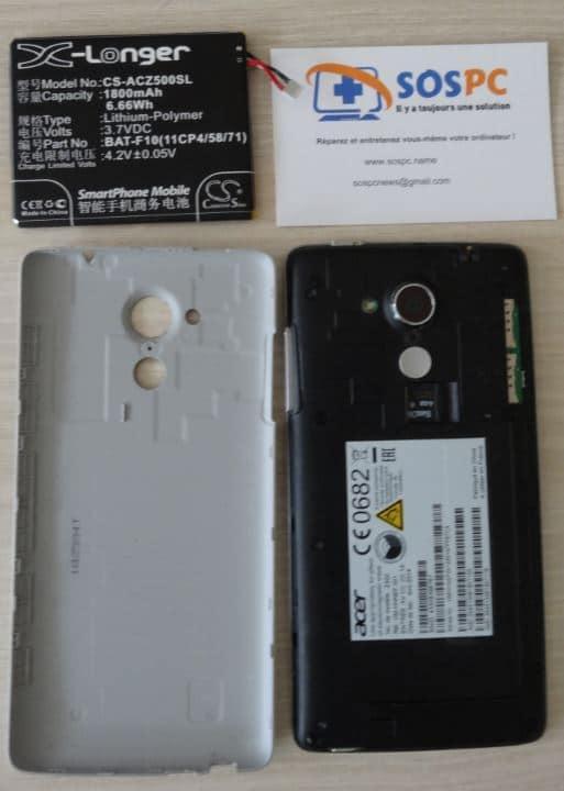 Changer de la batterie d'un Acer Z500.