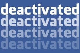 désactiver Compte Facebook.