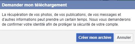 Comment sauvegarder les données de son Compte Facebook. Tutoriel, capture 6