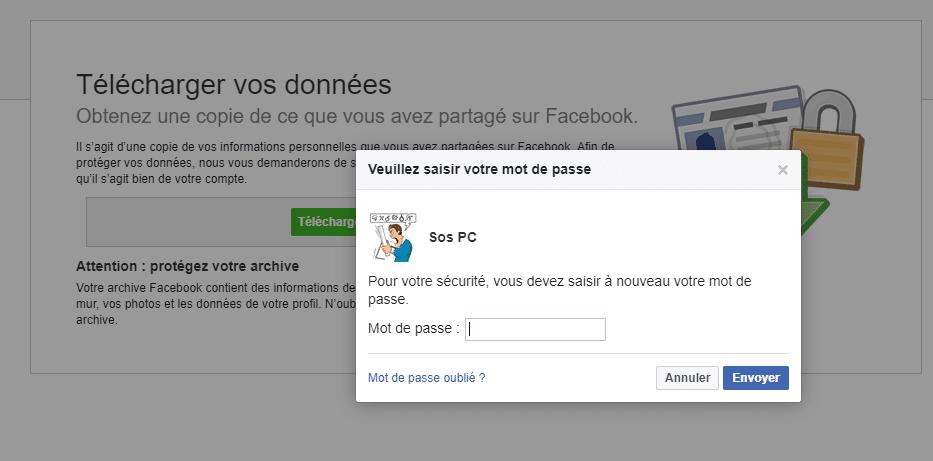 Comment sauvegarder les données de son Compte Facebook. Tutoriel, capture 10