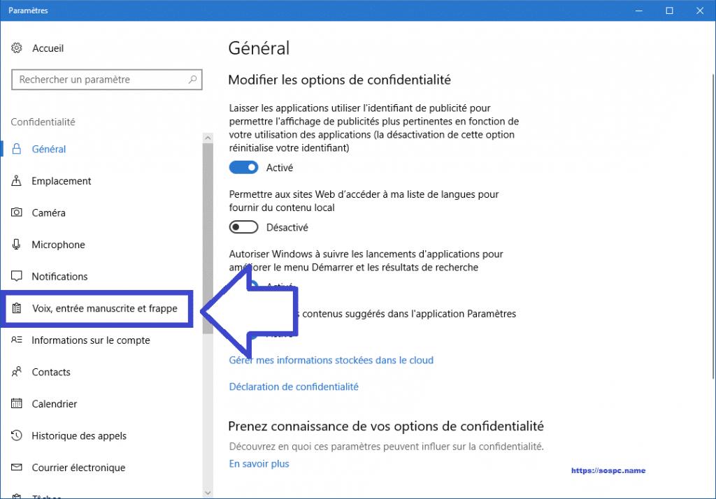 désactiver le Keylogger de Windows 10 sospc.name tutoriel complet