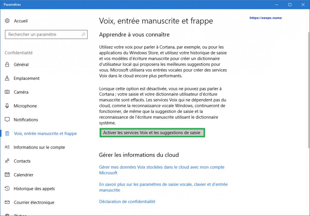 désactiver le mouchard de Windows 10