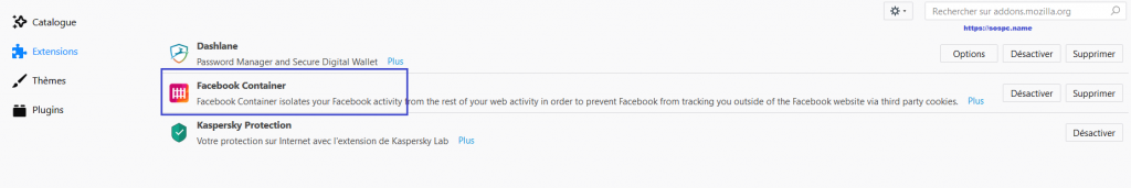 Facebook Container extension Firefox limiter tracking