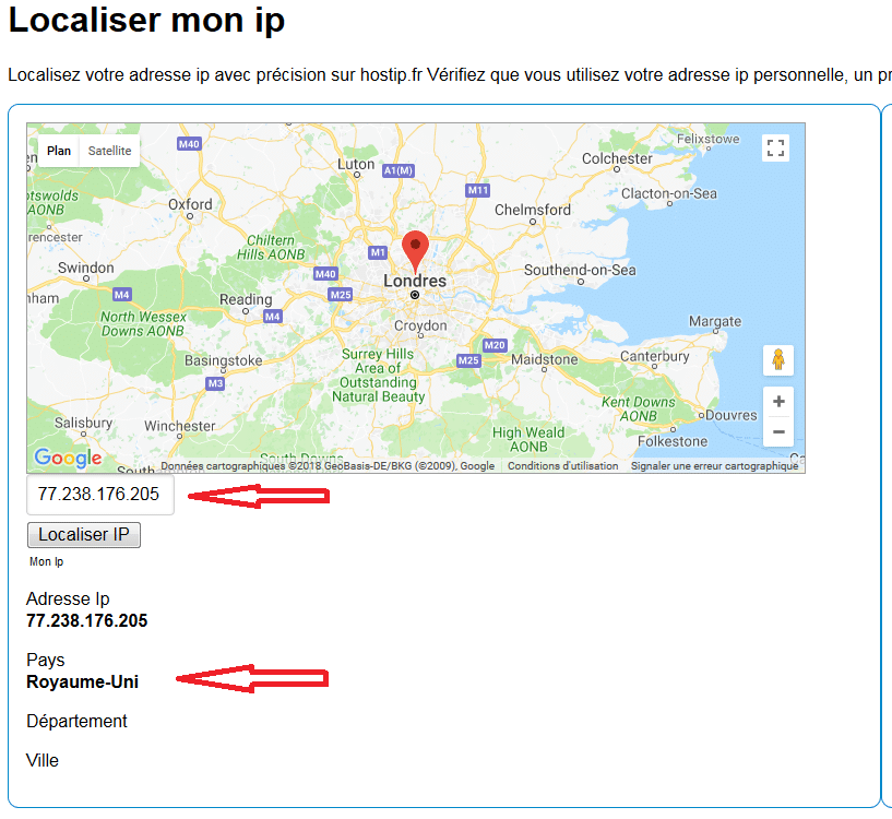 localiser ip mail frauduleux