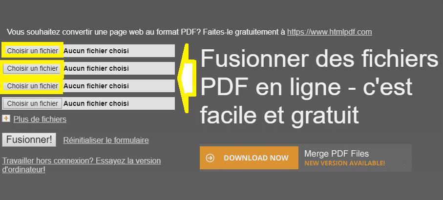 Comment fusionner des PDF : deux solutions sur SOSPC.name