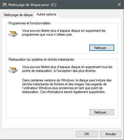 Nettoyage disque sous Windows. Tutoriel.