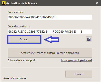 Iperius Backup activer licence aide