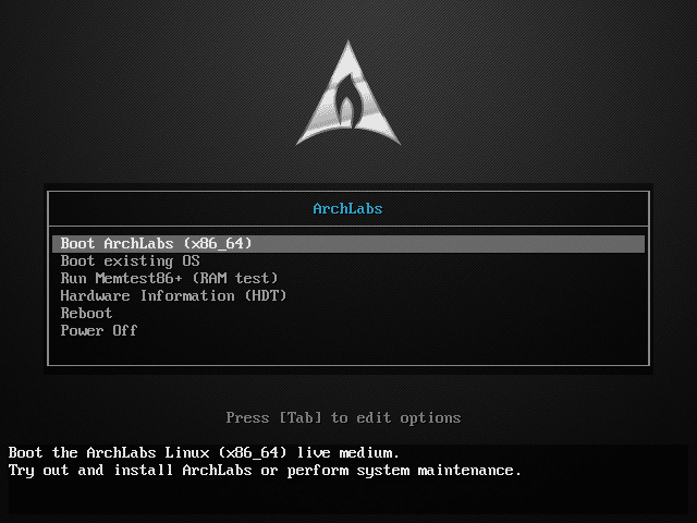 La distribution Linux ArchLabs, TUTORIEL